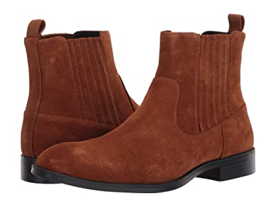 Calvin Klein Cliff Mid Chelsea Boot (Tan Calf Suede) Men