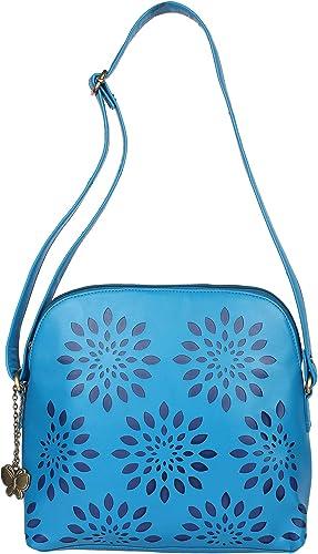Butterflies Women Handbag Sky Blue BD BNS 0011SBL