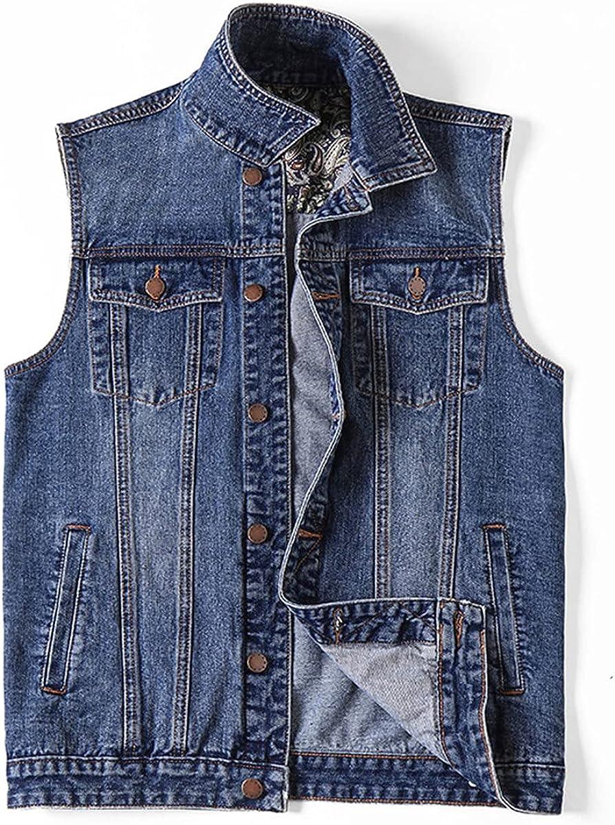 Men's Denim Vest Jacket Clothing Summer fashion Vest Casual Plus Size Jeans Jacket