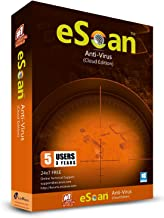 eScan Antivirus with Cloud Security antivirus protection for laptops Anti Ransomware Cloud Backup Total Antivirus pro Software 2019| 5 Devices 3 Years | [Windows 7/8/8.1/10]