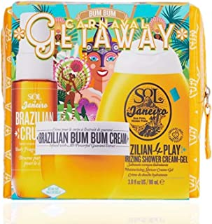 Sol De Janeiro Carnaval Getaway Set! Includes Bum Bum Cream, Shower Gel And Fragrance Mist! Hydrates Skin, Smells Great, Absorbs Quickly and Not Greasy! Can't-Resist Gift for Everyone!