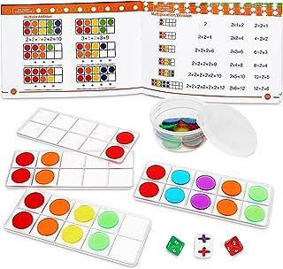 GAMENOTE Ten Frame Math Manipulatives Kindergarten Set - Ten-Frames Trays Math Counters for Kids Math Games Classroom Supp...