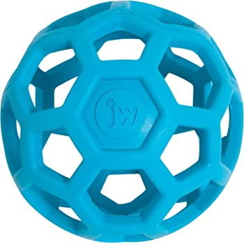 JW Hol-ee Roller Original Treat Dispensing Dog Ball - Hard Natural Rubber - Assorted Colors, Jumbo