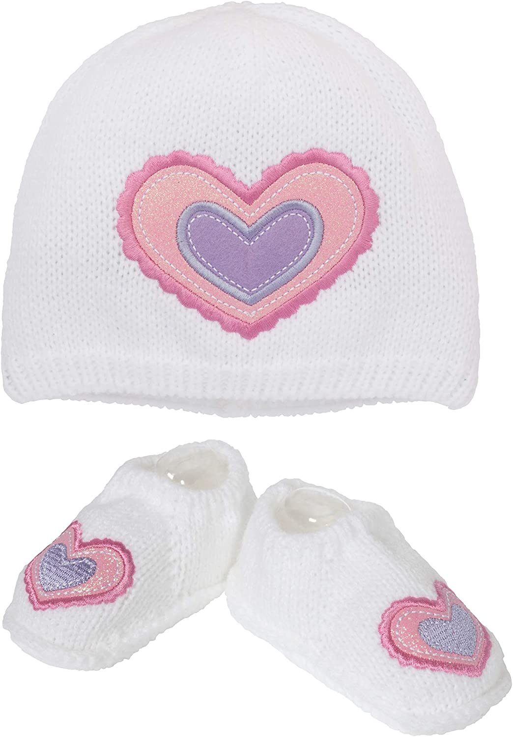 So Dorable Girls' Sweater Baby Hat and Booties, 0-6 Months