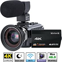 video camera camcorder 4k kicteck