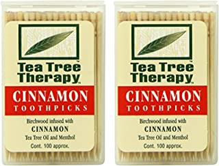 Tea Tree Therapy Toothpicks, Cinnamon, 100 Count (2-Pack)