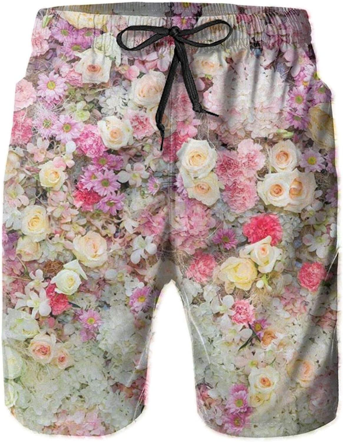 Mens 100% Polyester Spring Floral Luxury Trunks Swim Large special price Casual Shor Board