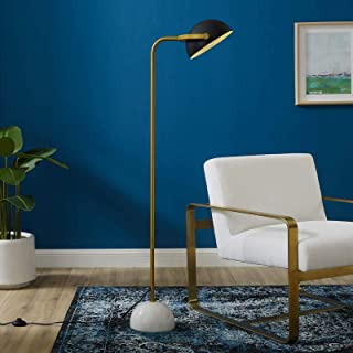 Modway EEI-2945 Convey Contemporary Modern Metal Shade Marble Base, Floor Lamp, Yellow