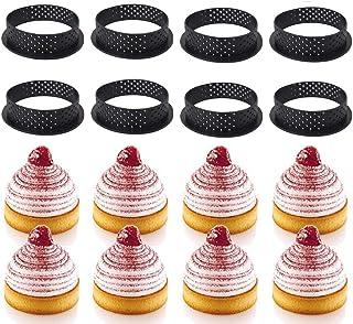 Mayyou Cercles et cadres à pâtisserie,Décoration pour croûte avec anneau circulaire en mousse de forme ronde avec découpe ...