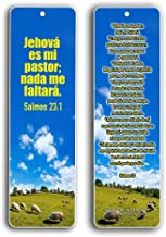 Spanish Bookmarks Salmo 23 (60-Pack) - Psalm 23 The Lord is My Shepherd Español Prayer Cards - Religious Christian Gift to Encourage Men Women Teens Children - War Room Decor - Stocking Stuffers