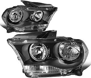 DNA Motoring HL-OH-DDUR11-BK-CL1 Left+Right Headlight Black/Clear[11-13 Dodge Durango]