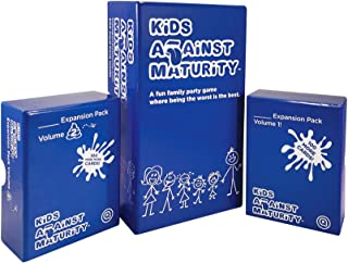 Kids Against Maturity: Card Game for Kids and Families, Super Fun Hilarious for Family Party Game Night, Combo Pack with E...