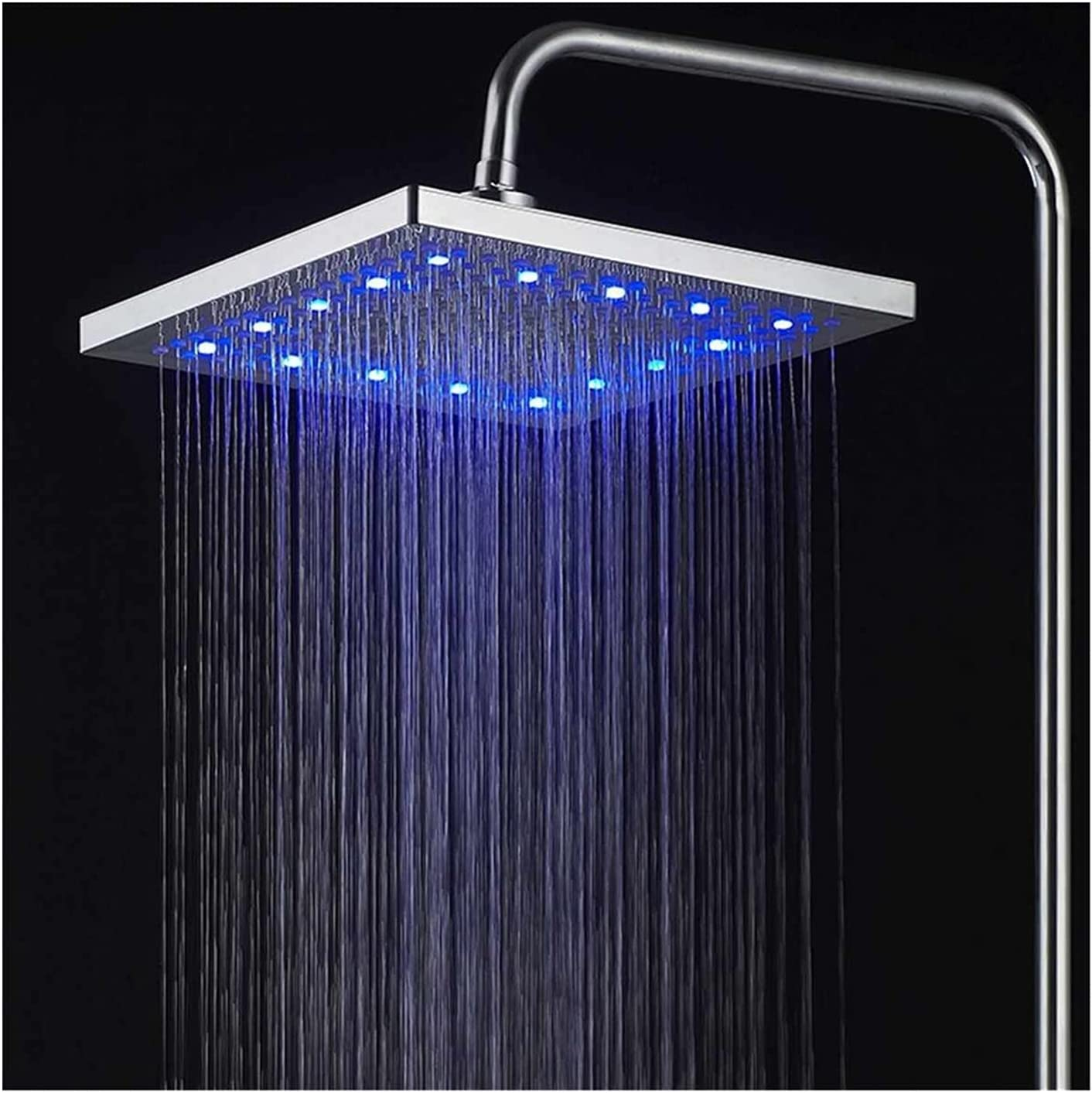 excellence JQDMBH Shower Head 8inch Color Changing NEW before selling Tem Rainfall