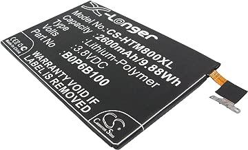 2600mAh Replacement Battery for HTC 35H00214-00M 35H00214-01M B0P6B100 BOP6B100