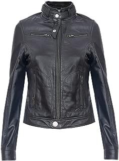 Ladies Womens Real 100% Leather Classic Brando Biker Jacket