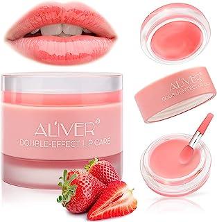 Lip Sleeping Mask, with Lip Scrubs Exfoliator & Moisturizer, Double Effect Lip Mask Overnight for Dry, Lip Masks Treatment...