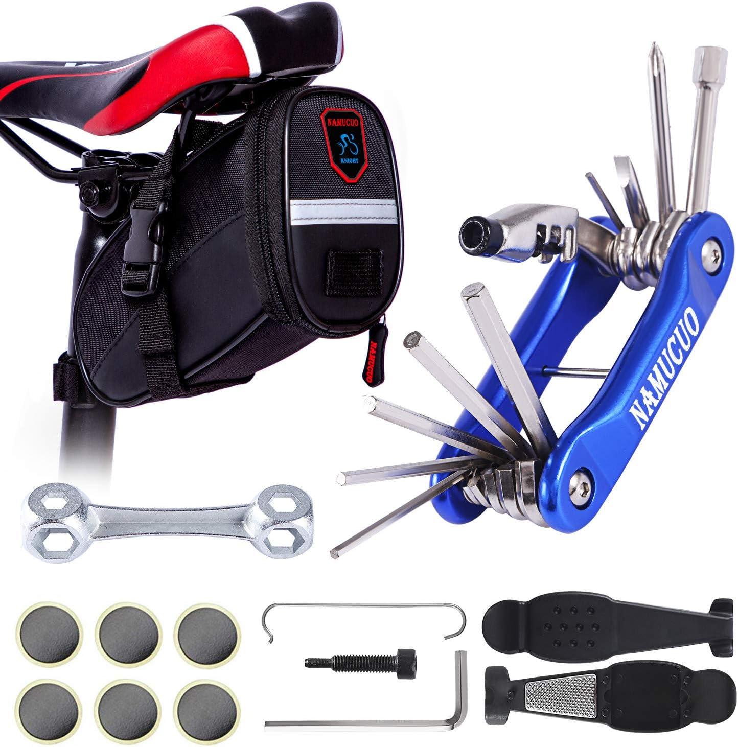 YBEKI Saddle Bag Bike Repair Tool with - Rapid rise San Diego Mall Set Kits B Bicycle