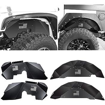 2 DV8 Offroad Inner Fender Liners Jeep JK Wrangler 07-16 Aprons Black Rear