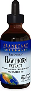 Planetary Herbals Full Spectrum Hawthorn Liquid Extract Supplement, 4 Fluid Ounce