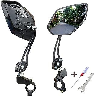 1 Pair of Handlebar Bike Mirror, Bicycle Mirror,Mountain Bike Mirror Safe Rearview Mirror Rotatable and Adjustable
