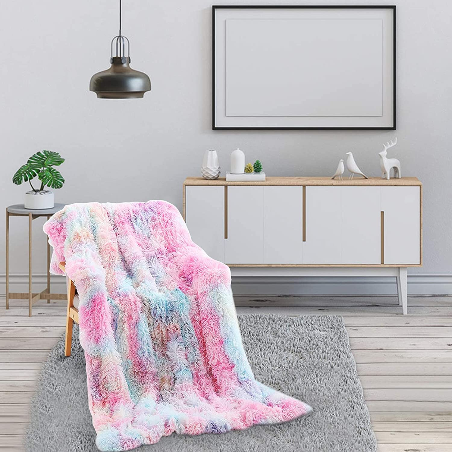 NXM Super Soft Long Shaggy Throw Elegant Cheap mail order specialty store Faux Deluxe Warm C Blanket Fur