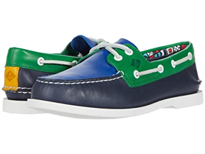 Sperry A/O 2-Eye Plushwave Nautical (Navy Multi) Men
