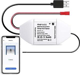 Meross Smart WLAN garagedeuropener werkt met Apple HomeKit, APP-bediening, compatibel met Alexa, Google Assistant en Smart...