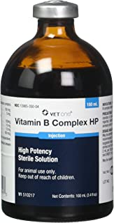 Vet One Vitamin B Complex High Potency for Cattle Swine & Sheep - Supplemental Source of