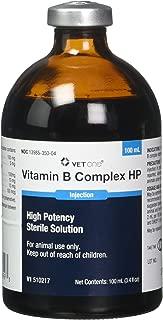 VET ONE Vitamin B Complex High Potency for Cattle Swine & Sheep - Supplemental Source of Vitamin B - 100ml