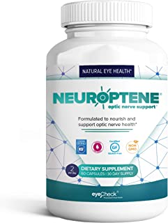 Sponsored Ad - Eye Pressure Supplement with Bilberry Saffron Niacinamide CoQ10 for Optic Nerve Relief - Helps Support Heal...