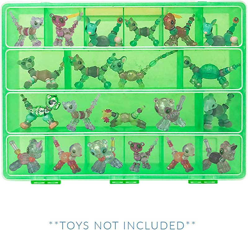 Life Made Better Toy Playset Figures Compartment Organizer Compatible With Twisty Petz Protective Case With Handle