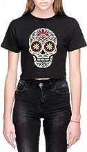 Suiker Schedel Dames Crop T-Shirt Zwart Women's Cr...