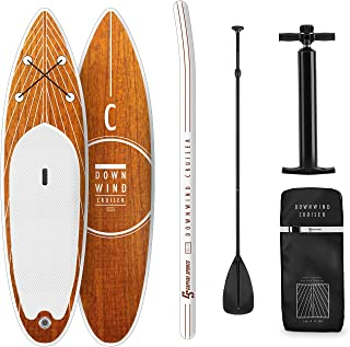 Capital Sports Downwind Cruiser S Stand Up - Tabla Sup Hinchable, Tabla de Surf, 305 x 10 x 77 cm, Tecnología DoubleLayer & DropStitch, Set Completo, Mochila de Transporte de 55L