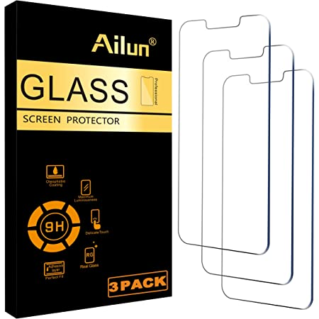 Ailun Glass Screen Protector Compatible for iPhone 13/13 Pro [6.1 Inch] Display 3 Pack Tempered Glass,Case Friendly