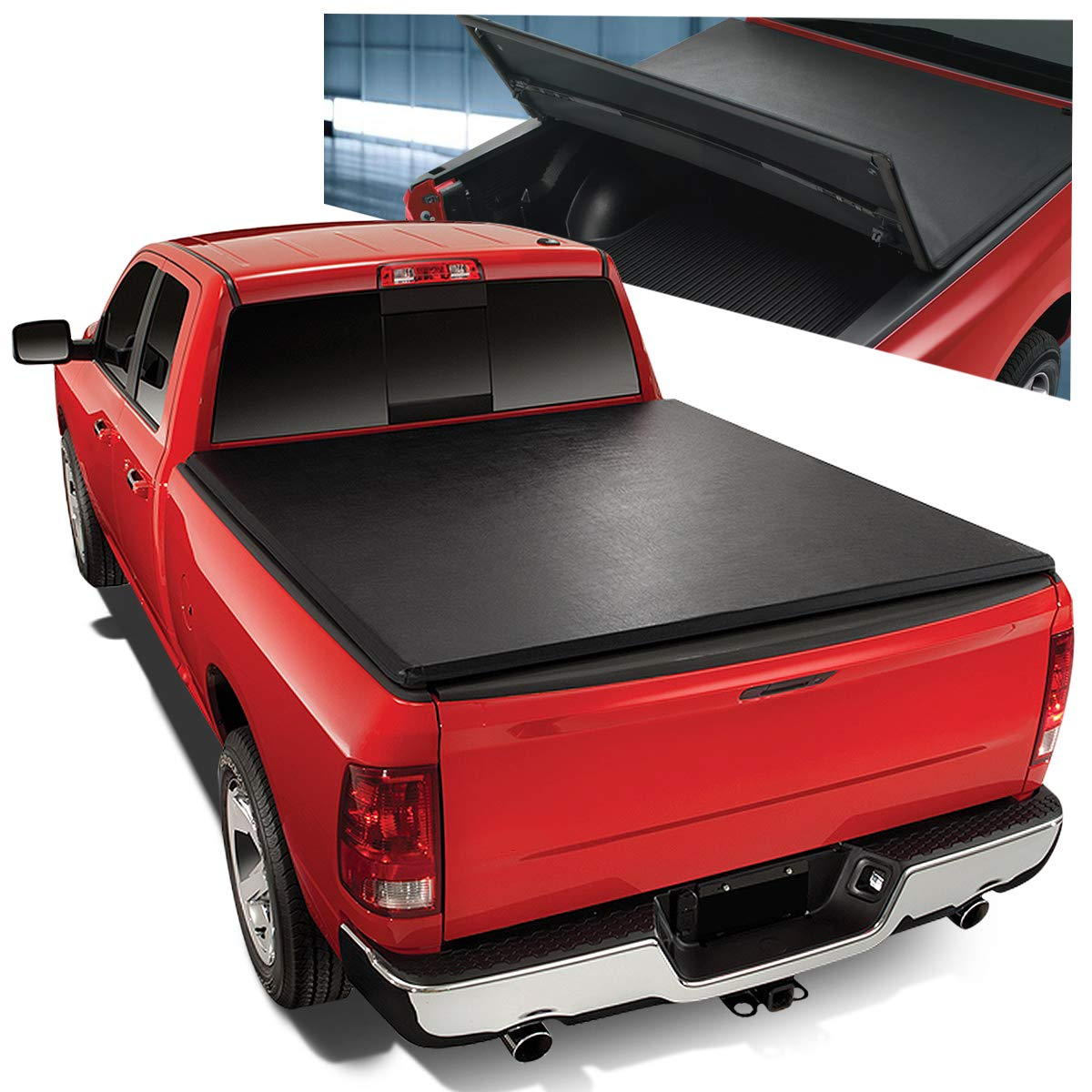 Tri Fold Adjustable Soft Top Trunk Tonneau Cover For Ford F150 Truck 8 Ft Bed Fleetside 04 14 Buy Online In Botswana At Desertcart Productid 140582935