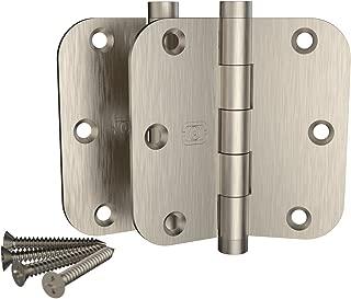 2 Pack Omnia 3 1/2 x 3 1/2 Extruded Solid Brass Door Hinge 5/8