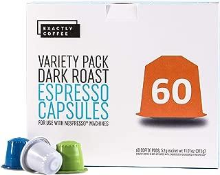 Compatible Capsules for Nespresso OriginalLine Machines - 60 Pod Variety Pack (Compare to Nespresso Capsules, Nespresso Pods, Nespresso Coffee)