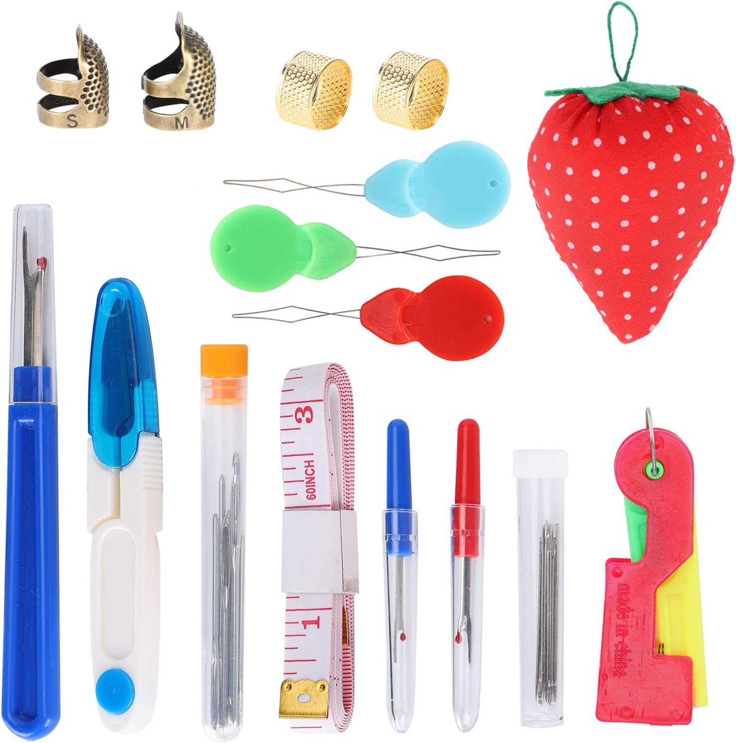 Sewing Tools Set, A Small Red Ball Design, for Most Sewing Indus