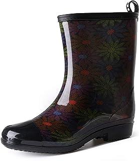 gracosy Regn stövlar för kvinnor vattentäta regnskor halkskydd Wellington stövlar slip-on ankelstövlar gummisskor dam chel...