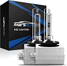 Marsauto D1S Xenon HID Headlight Bulbs 5000K Pure White 35W with Metal Stents Base and Gloves for 12V HID Headlight Replacement Bulbs High Beam and Low Beam 2Pack