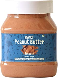 Planut Chemical Free Peanut Butter, Smooth, Sweetened, 190g | All-natural, High Protein