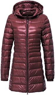 Jifnhtrs 6XL 7XL Long Down Jacket Women Winter Ultra Light Down Jacket Women with a Hood Down Coat