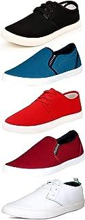 SCATCHITE Men's Multicolor Canvas Casual Shoes - 5 (Pack of 5)