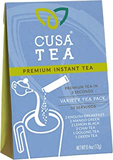 Cusa Tea: Premium Instant Tea - Single-Serve Packets - 100% Organic - Real Fruit and Spices - No Artificial Flavors - Make Hot & Cold Tea in Seconds