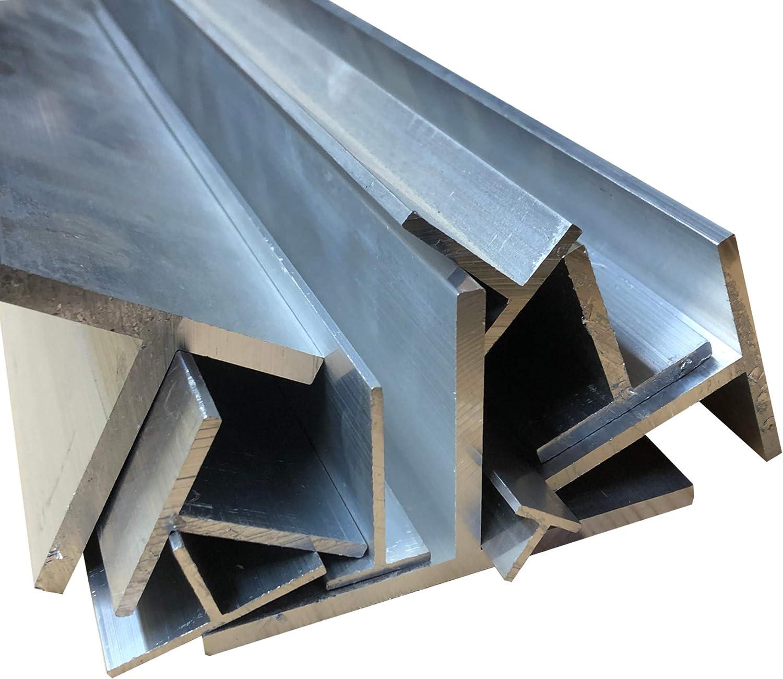 10 Stck. /á 100 cm Alu T-Profil Aluminium 50 x 50 x 4 mm AlMgSi0,5 Profil Aluprofil Stange T-Profil 10 m