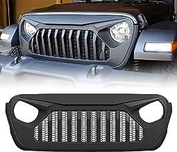 Extreme Off-Road Matte Black Front Grille for 2018-2020 Jeep Wrangler JL&Gladiator JT, ABS