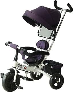 HOMCOM Triciclo para Niños con Capota Desmontable y