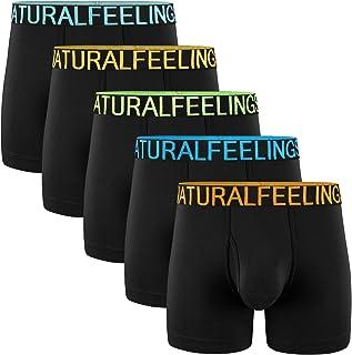Men's Underwear Boxer Briefs Cotton Black Mens Boxer Briefs Underwear Men Pack Wide Waistband S M L XL XXL