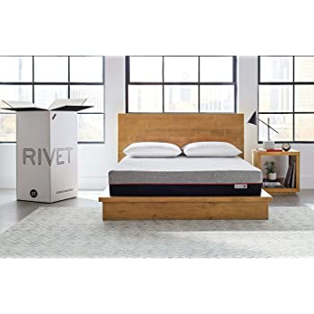 Amazon Brand – Rivet Mattress - Supportive Pressure Relief Memory Foam with Celliant Cover for Restorative Sleep, 10-Inch Height, Queen