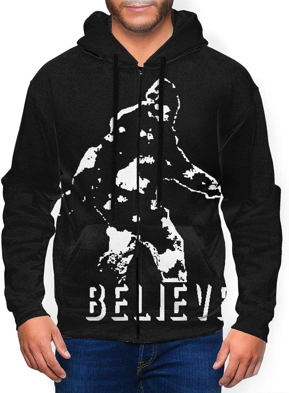 L Believe Bigfoot Men's Athletic Fit Zip Sweatshirt Full Active 2021 Product spring and summer new